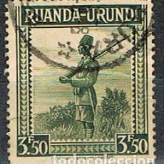 Sellos: RUANDA URUNDI Nº 93 (AÑO 1942), SOLDADO ASKARI, USADO. Lote 221689002