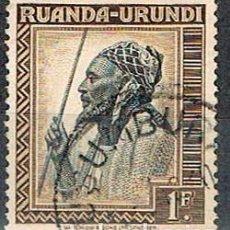 Sellos: RUANDA URUNDI Nº 88 (AÑO 1942), JEFE WATUSI, USADO. Lote 221689135