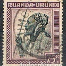 Sellos: RUANDA URUNDI Nº 87 (AÑO 1942), JEFE WATUSI, USADO. Lote 221689235