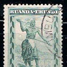 Sellos: RUANDA URUNDI Nº 58 (AÑO 1931), SOLDADO RUANDES, USADO. Lote 221689498