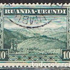 Sellos: RUANDA URUNDI Nº 44 (AÑO 1931), PAISAJE RUANDES, USADO. Lote 221690326