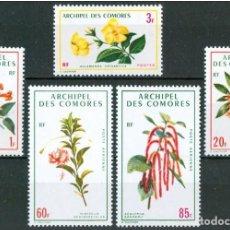 Sellos: ARCHIPIELAGO DE LAS COMORES 1971 - FLORES - YVERT Nº 69/71**+ AEREOS 37/38**. Lote 221957902