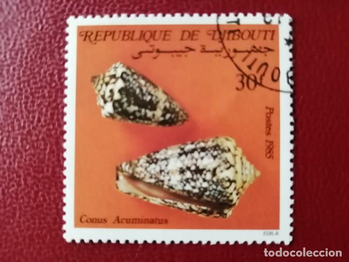 DJIBOUTI - VALOR FACIAL 30 F - AÑO 1985 - CONUS ACUNIATUS - CARACOL MARINO (Sellos - Extranjero - África - Otros paises)
