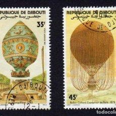 Sellos: AFRICA OCCIDENTAL. R. DJIBOUTI. EXPOSICIÓN PARIS 1978. GLOBOS GIFFAR. USADOS SIN CARNELA. Lote 222187745