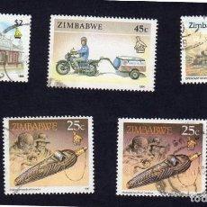 Sellos: AFRICA. ZIMBAWE. VARIOS. USADO SIN CHARNELA. Lote 222297798
