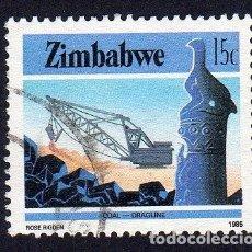 Sellos: AFRICA. ZIMBAWE. MINA DE CARBON. USADO SIN CHARNELA. Lote 222297893