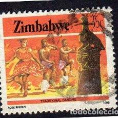 Sellos: AFRICA. ZIMBAWE. DANZA TRADICIONAL. USADO SIN CHARNELA. Lote 222297951