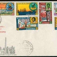 Sellos: ETHIOPIA 1962. SOBRE - ANTIGUOS LÍDERES DE ETHIOPIA. Lote 222305545