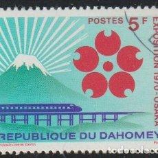 Sellos: DAHOMEY 1970 SCOTT 270 SELLO ** EXPO OSAKA JAPON MONTE FUJI, EMBLEMA Y TREN MICHEL 419 YVERT 270. Lote 222322925