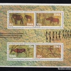 Sellos: SUDOESTE AFRICANO HB 2** - AÑO 1976 - PINTURAS RUPESTRES. Lote 222363600