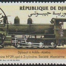 Sellos: DJIBOUTI 1985 SCOTT 597 SELLO * TREN FERROCARRIL LOCOMOTIVES ALEMANIA ENGINE Nº 29 MICHEL 439 YV 603. Lote 222364466