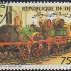 Sellos: DJIBOUTI 1985 SCOTT 598 SELLO * TREN FERROCARRIL LOCOMOTIVES ALEMANIA ALDER MICHEL 440 YVERT 604. Lote 222364712