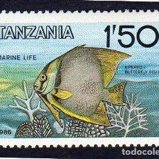 Sellos: AFRICA TANZANIA. FAUNA MARINA. NUEVO. Lote 222407482