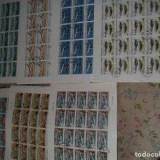 Sellos: LOTE DE 7 PLIEGOS DISTINTOS DE DJIBOUTI (YIBUTI) NUEVOS MATASELLADOS TEMA AVIACIÓN. Lote 222536305