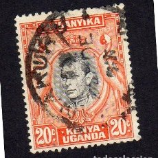 Sellos: AFRICA. TANGANICA. KENIA-UGANDA. PERONAJE. USADO SIN CHARNELA. Lote 222628727