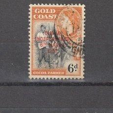 Sellos: GOLD COAST SOBREIMPRESION INDEPENDENCIA GHANA 6 MARCH 1957. Lote 223232637