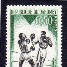 Sellos: ÁFRICA. R. DAHOMEY. JUEGOS DEPORTIVOS DE DAKAR 1963. NUEVO SIN FIJA SELLOS. Lote 223298517