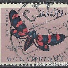 Francobolli: MOZAMBIQUE 1953 - FAUNA, MARIPOSAS Y POLILLAS, ARNIOCERA ERICATA - USADO. Lote 227695895
