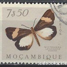 Francobolli: MOZAMBIQUE 1953 - FAUNA, MARIPOSAS Y POLILLAS, NYCTEMERA LEUCONOE - USADO. Lote 227695995
