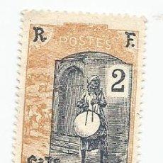 Sellos: SELLO DE SOMALIA COLONIA FRANCESA DE 1915- TAMBORILERO- YVERT 84- VALOR 2 CENTIMOS. Lote 229087955