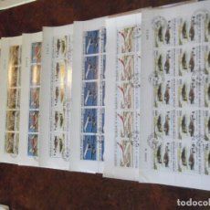 Sellos: LOTE 7 PLIEGOS ENTEROS DE SELLOS SIN USAR (MATASELLO DE CORTESÍA). Lote 229376690