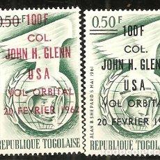 Sellos: TOGO, 1962, , ESPACIO, NUEVO SIN SEÑAL DE FIJASELLOS. Lote 232703235