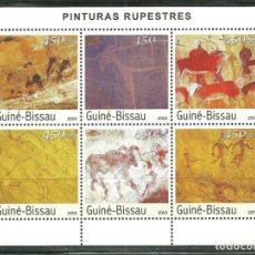 Sellos: GUINEA BISSAU 2003 IVERT 1432/7 *** PINTURAS RUPESTRES - ARTE. Lote 233537040