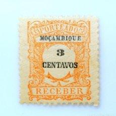 Sellos: SELLO POSTAL MOZAMBIQUE 1917 , 3 C, PORTES DEBIDOS, SIN USAR. Lote 233857940