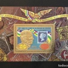 Timbres: 1978-REPUBLICA CENTROAFRICANA MICHEL HB47 ROWLAND HILL SELLO ORO FOIL NUEVO SIN CHARNELA. Lote 234754055