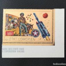 Sellos: 1976-COMORES MICHEL 312 BICENTANARIO REVOLUCIÓN AMERICANA SELLO ORO FOIL NUEVO SIN CHARNELA. Lote 234909080