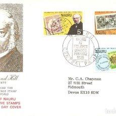 Sellos: SPD -FDC, NAURU, 1979, ROWLAND HILL. Lote 235694750