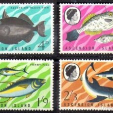 Sellos: ASCENSION 1968 - PECES - YVERT Nº 119-122-124-125**. Lote 235819030