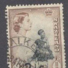 Sellos: SWAZILANDIA, SOBRECARGADO, 1961. Lote 235946690