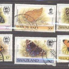 Sellos: SWAZILANDIA, 1987 MARIPOSAS. Lote 235951415
