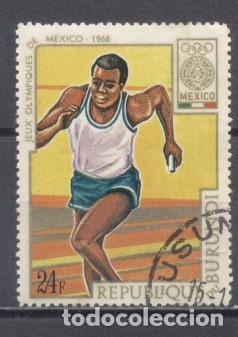 BURUNDI 1968, JJOO DE MEXICO, PREOBLITERADO (Sellos - Extranjero - África - Otros paises)