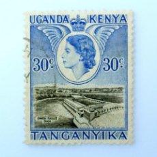 Sellos: SELLO POSTAL AFRICA ORIENTAL BRITANICA -KENIA-UGANDA-TANGANICA 1954, 30 C,PRESA DE OWEN FALLS ,USADO. Lote 241468340