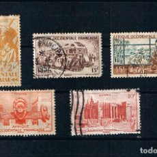 Timbres: AFRICA OCCIDENTAL FRANCESA - LOTE 5 SELLOS ANTIGUOS COLONIAS AFRICANAS. Lote 241814175