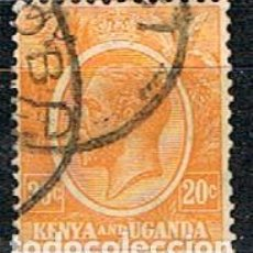 Sellos: KENIA Y UGANDA (COLINIA INGLESA) AÑO 1.922, IVERT Nº 6, JORGE V, USADO. Lote 243863265