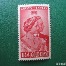Sellos: *COSTA DE ORO, GHANA, 1948,BODAS DE PLATA DE LOS SOBERANOS BRITANICOS, YVERT 140. Lote 243884030