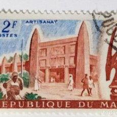Francobolli: SELLO DE MALI 2 F - 1961 - ARTESANIA - USADO SIN SEÑAL DE FIJASELLOS. Lote 244665870