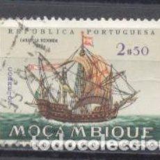 Sellos: MOZAMBIQUE, COLONIA PORTUGUESA, 1963 BARCOS,CARAVELA REDONDA ,USADO. Lote 245270090
