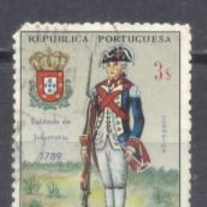 Sellos: MOZAMBIQUE, COLONIA PORTUGUESA, 1965/66,UNIFORMES MILITARES, USADO. Lote 245279165