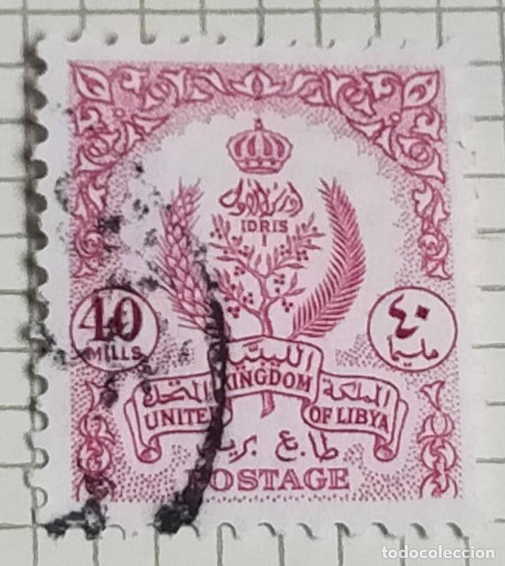 SELLO LIBIA 1955 40 M. (Sellos - Extranjero - África - Otros paises)