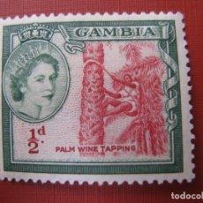 Sellos: GAMBIA, 1953, YVERT 146. Lote 245409500