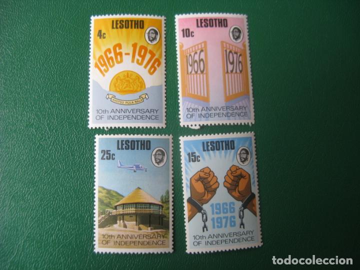 LESOTHO, 1976, 10 ANIVERSARIO DE LA INDEPENDENCIA, YVERT 315/18 (Sellos - Extranjero - África - Otros paises)