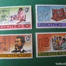 Sellos: LESOTHO, 1976, CENTENARIO DEL TELEFONO, YVERT 319/22. Lote 245463655