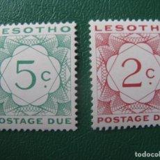 Sellos: LESOTHO, 1976, SELLOS DE TASA YVERT 16/7. Lote 245464315