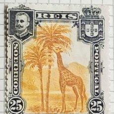 Sellos: SELLO NYASSA 1901 D. CARLOS I. - GIRAFFE (GIRAFFA CAMELOPARDALIS) 25 REIS. Lote 246321965