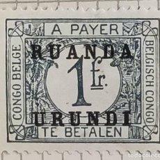Sellos: SELLO DE CONGO BELGA SOBRECARGADO RUANDA-URUNDI 1924 1 FR. Lote 246340325