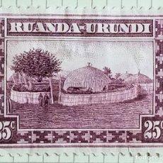 Sellos: SELLO DE RUANDA – URUNDI 1936 POBLADO RUANDES. Lote 246356045